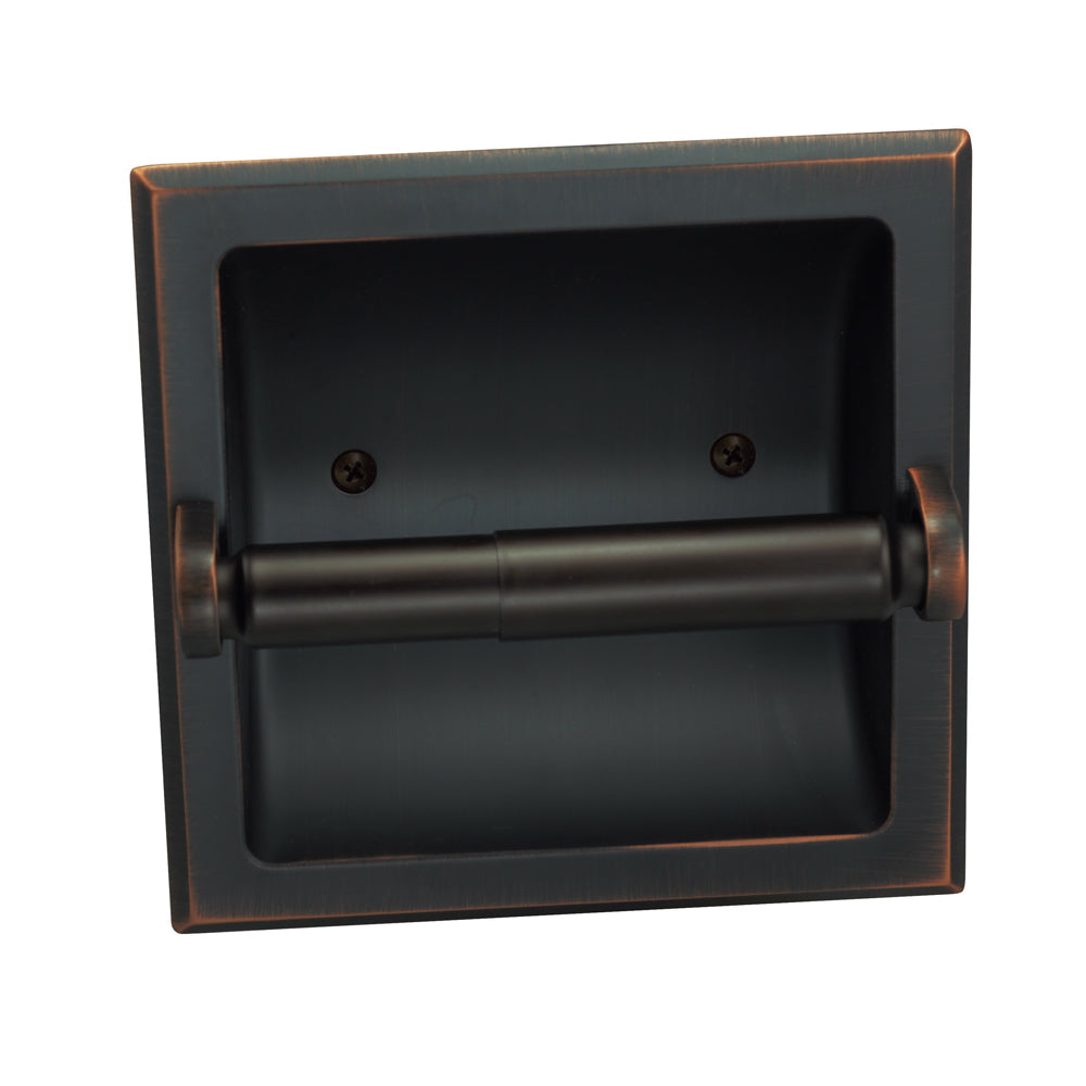 Designers Impressions Oil Rubbed Bronze Recessed Toilet / Tissue Paper Holder