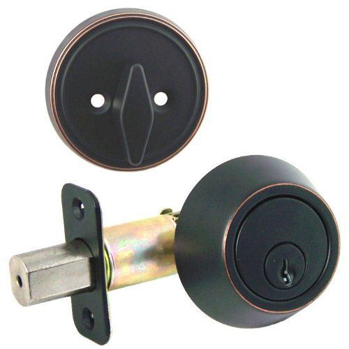 Designers Impressions Oil Rubbed Bronze Single Cylinder Deadbolt