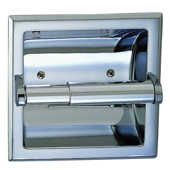 Designers Impressions Polished Chrome Recessed Toilet / Tissue Paper Holder