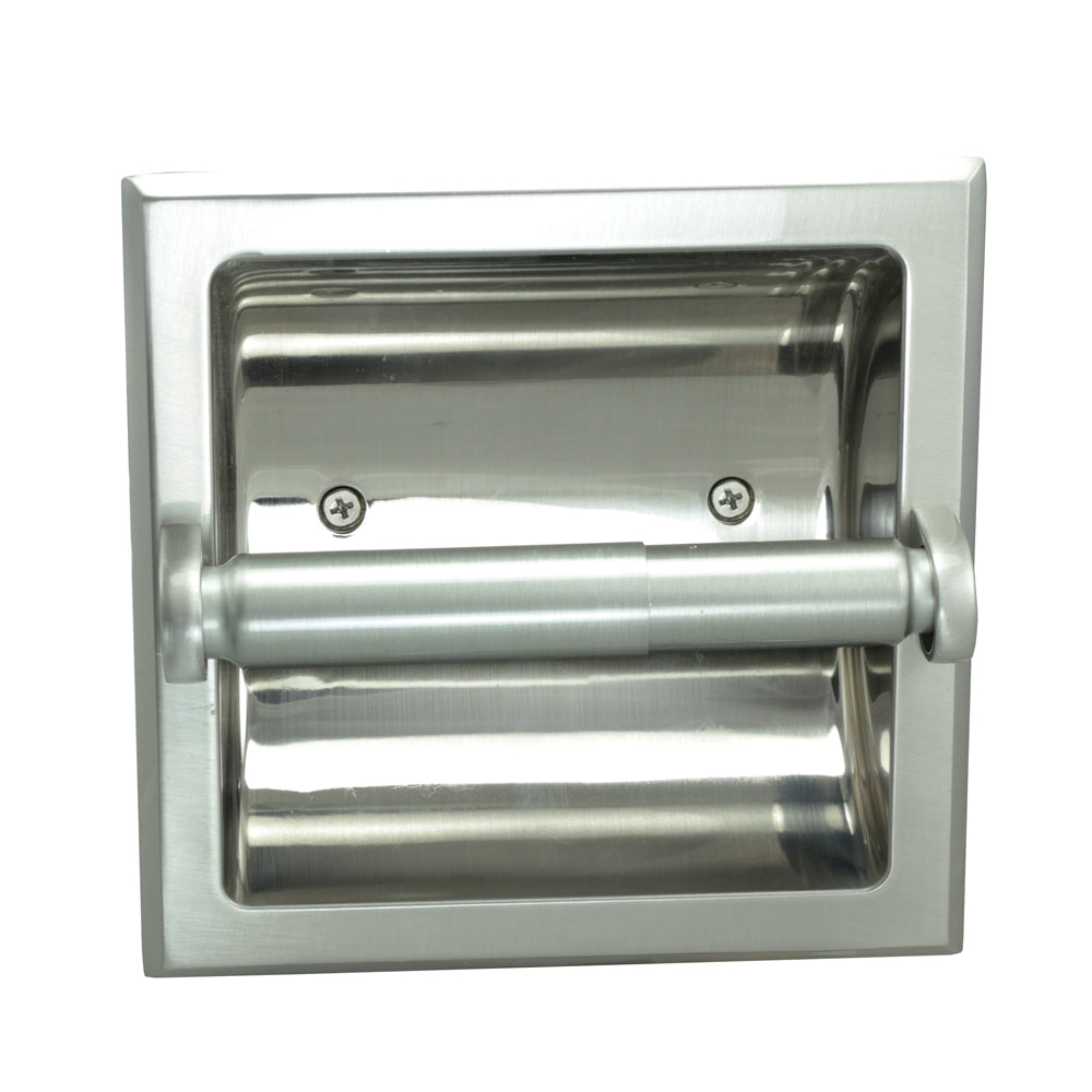Designers Impressions Satin Nickel Recessed Toilet / Tissue Paper Holder