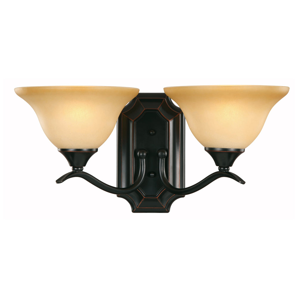 Dover Series Oil Rubbed Bronze 2 Light Wall Sconce