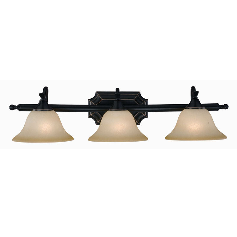 Dover Series Oil Rubbed Bronze 3 Light Bathroom Vanity Wall Fixture