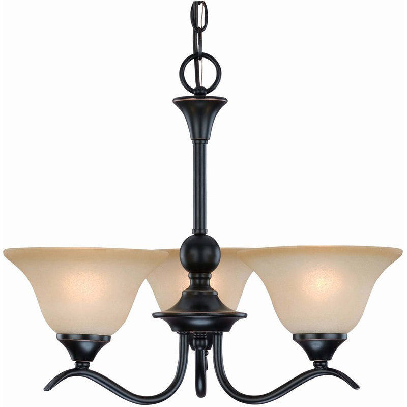 Dover Series Oil Rubbed Bronze 3 Light Chandelier