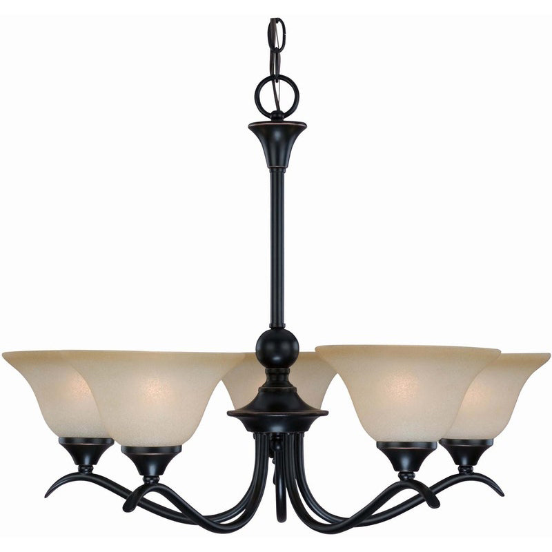 Dover Series Oil Rubbed Bronze 5 Light Chandelier