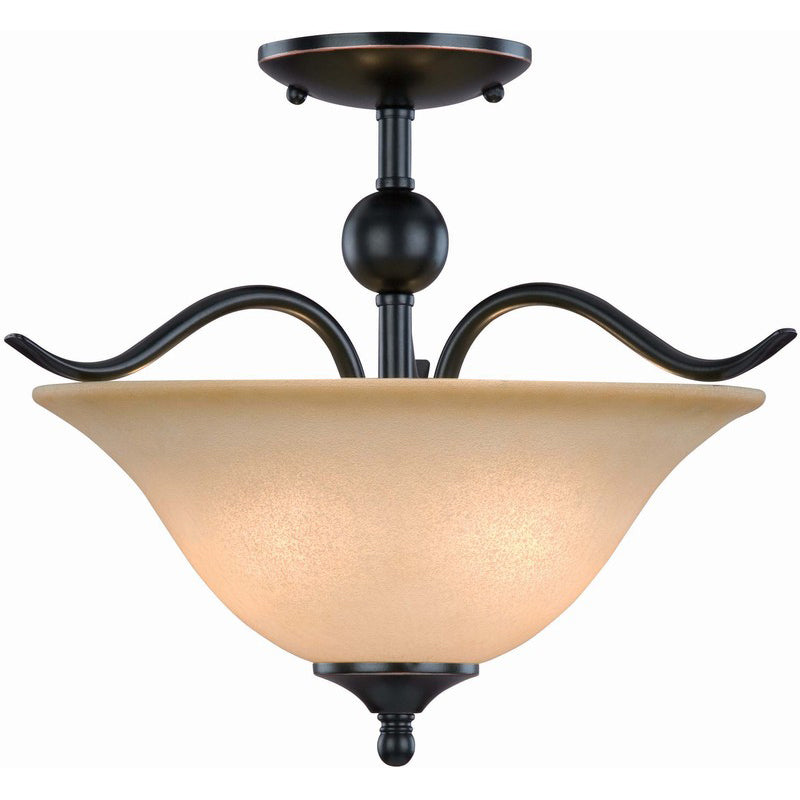 Dover Series Oil Rubbed Bronze Semi-Flush Mount Ceiling Light Fixture