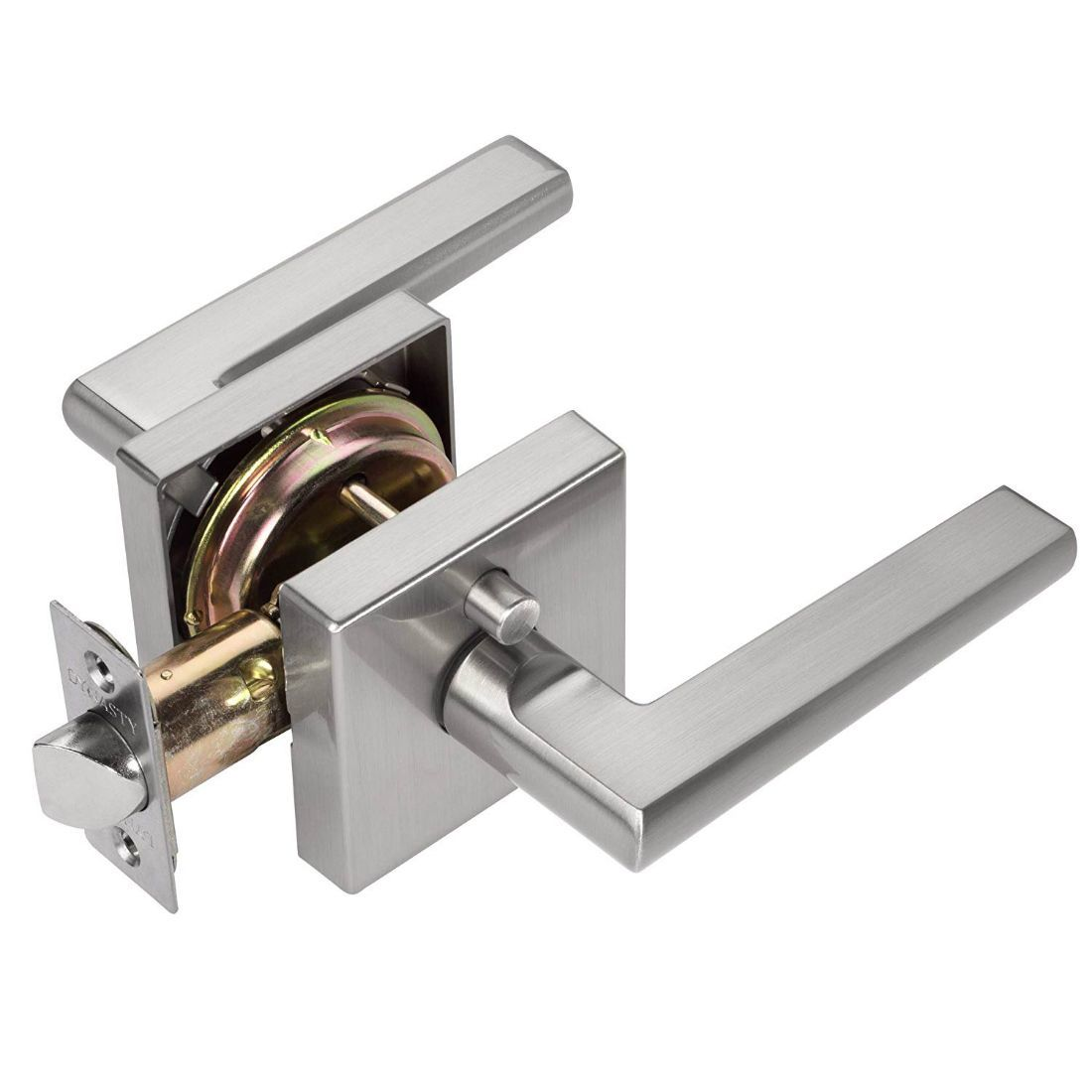 Dynasty Hardware Capri CAP-30-US15 Privacy Door Lever, Satin Nickel