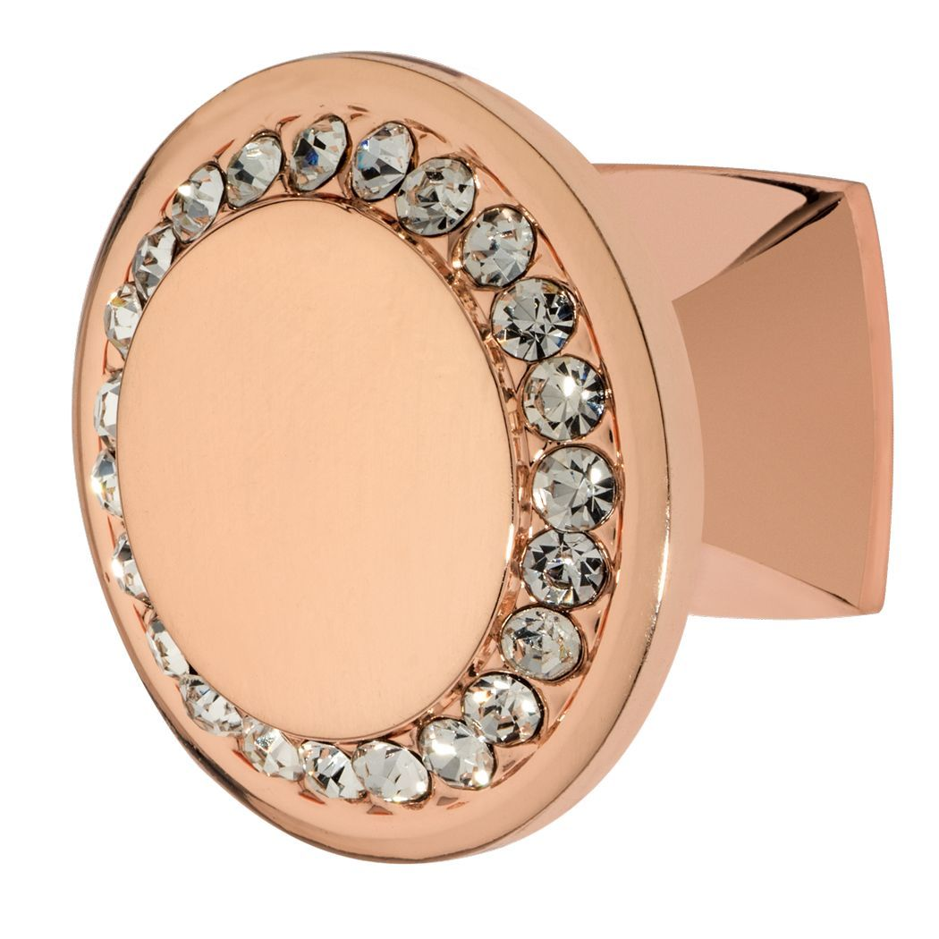 Isabel Knob, Rose Gold, Clear
