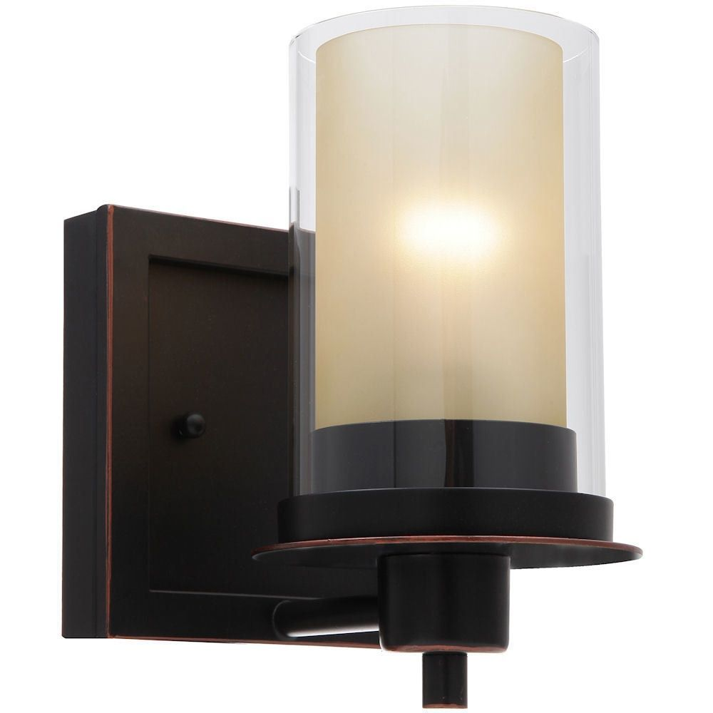 Juno Oil Rubbed Bronze 1 Light Wall Sconce / Bathroom Fixture