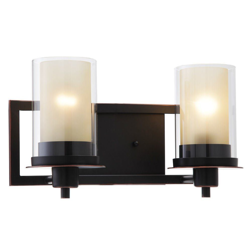 Juno Oil Rubbed Bronze 2 Light Wall Sconce / Bathroom Fixture