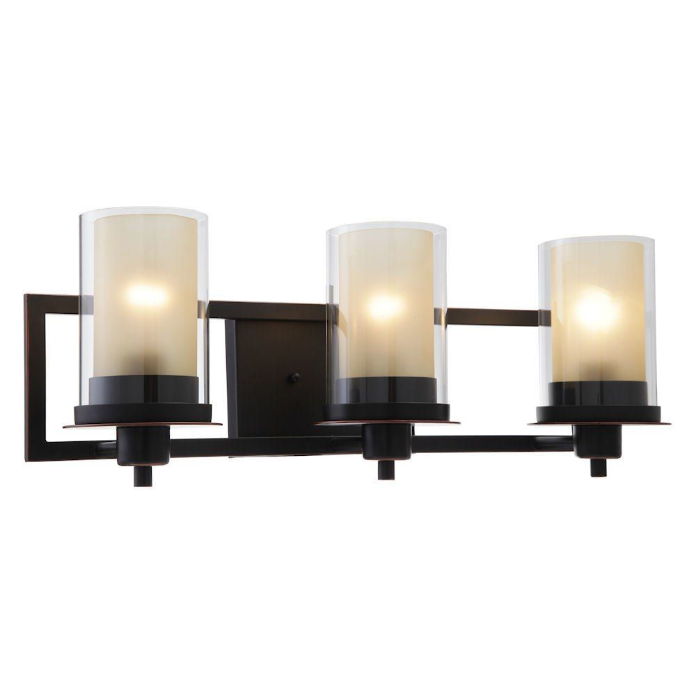 Juno Oil Rubbed Bronze 3 Light Wall Sconce / Bathroom Fixture
