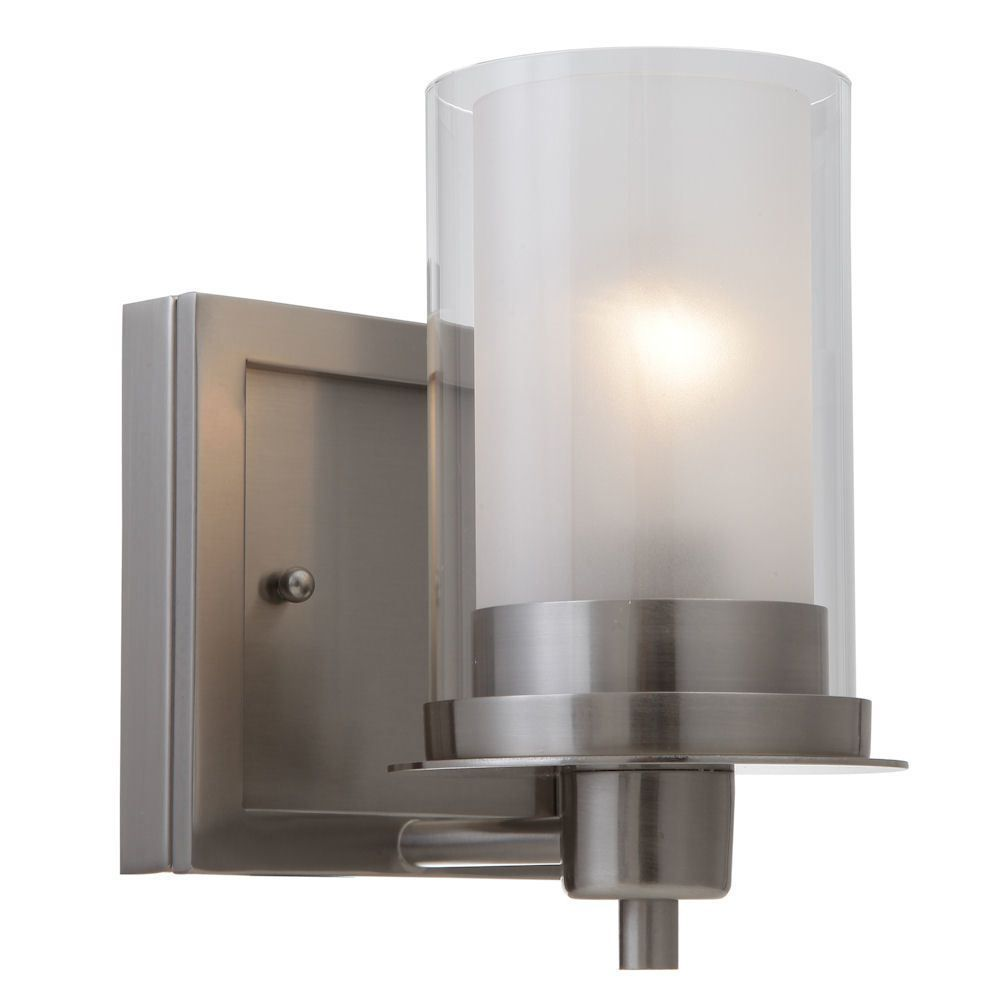 Juno Satin Nickel 1 Light Wall Sconce / Bathroom Fixture