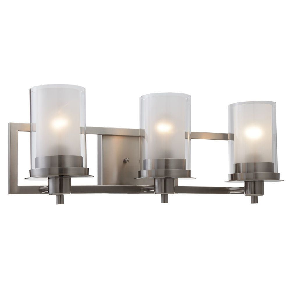 Juno Satin Nickel 3 Light Wall Sconce / Bathroom Fixture
