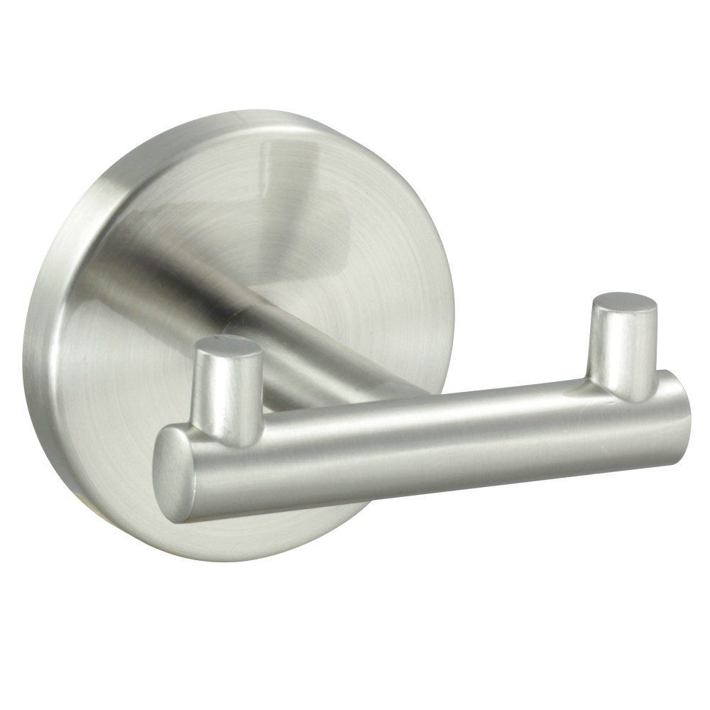 Kain Series Satin Nickel Double Robe Hook