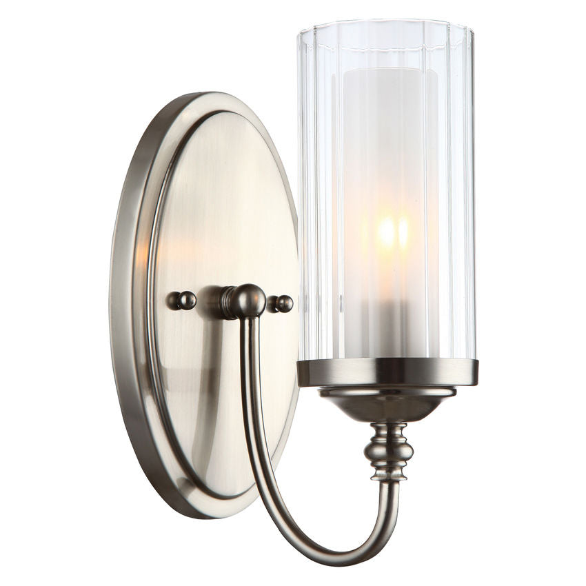 Lexington Satin Nickel 1 Light Wall Sconce / Bathroom Fixture : 20-9304