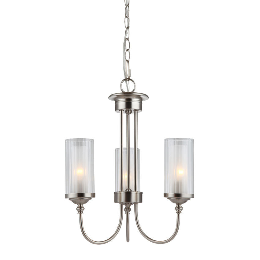 Lexington Satin Nickel 3 Light Chandelier : 20-8987