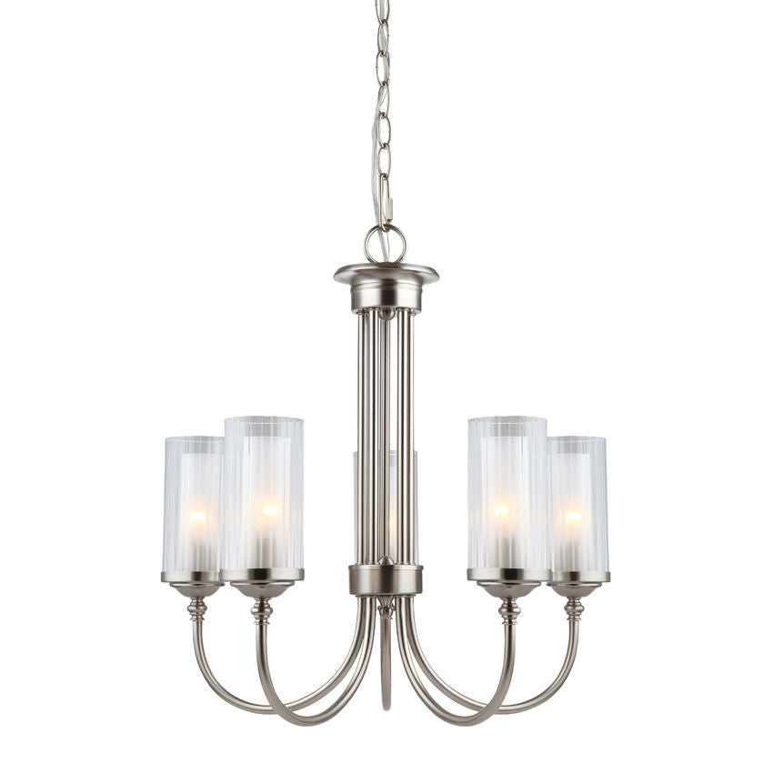 Lexington Satin Nickel 5 Light Chandelier : 20-9069