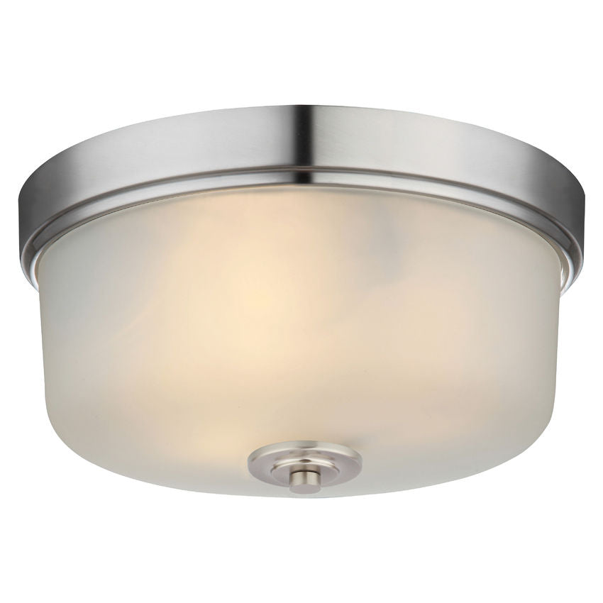 Lexington Satin Nickel Flush Mount Ceiling Light Fixture : 20-9229