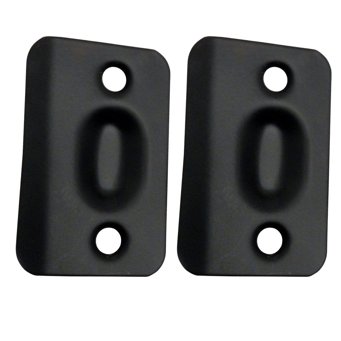 Matte Black Replacement Ball Catch Strike Plates (Pair)