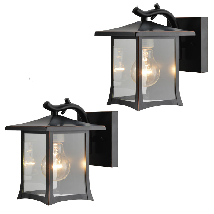 Oil Rubbed Bronze Outdoor Patio / Porch Exterior Light Fixtures - Twin Pack : 73475