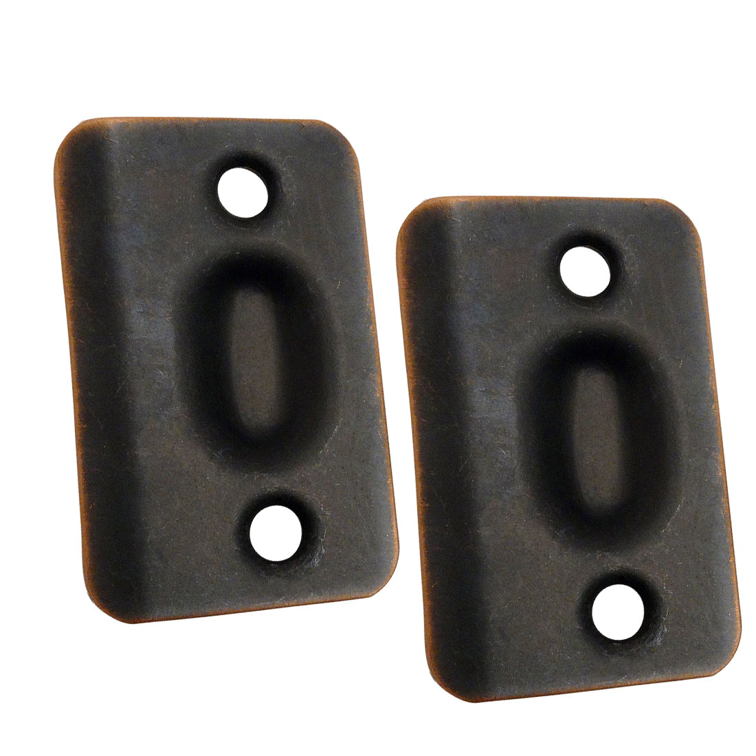 Oil Rubbed Bronze Replacement Ball Catch Strike Plates (Pair)