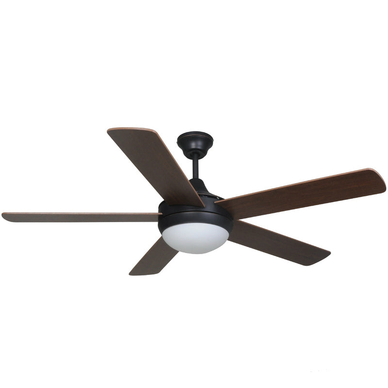"Riverchase Oil Rubbed Bronze 52"" Ceiling Fan w/ Light Kit & Remote Control : 7249"