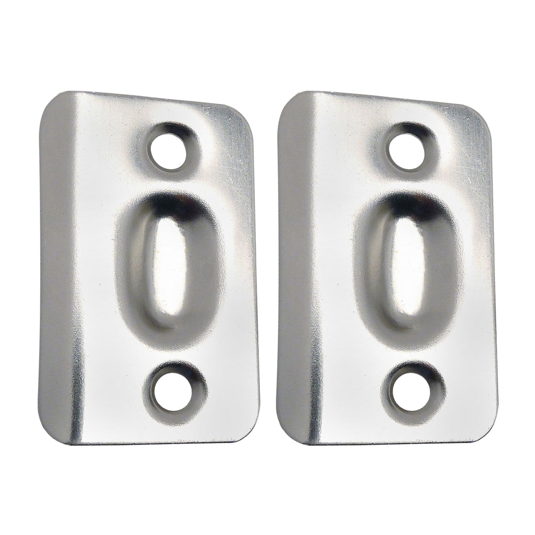 Satin Nickel Replacement Ball Catch Strike Plates (Pair)
