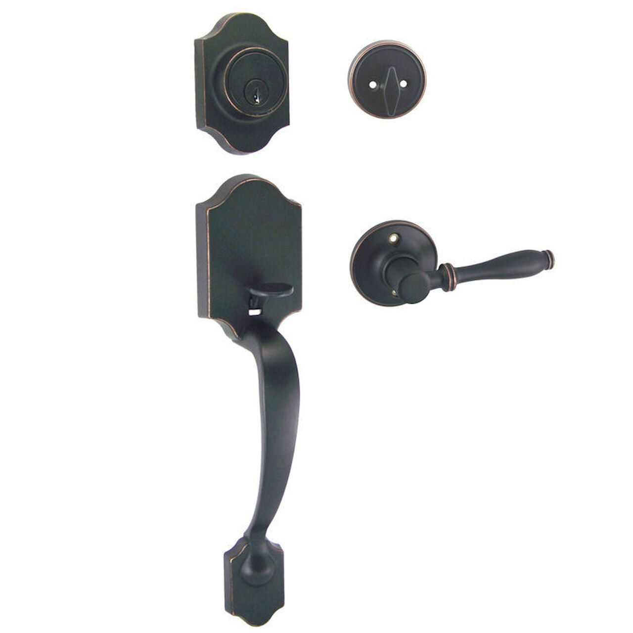 Valhala Oil Rubbed Bronze Decorative Handleset with Villa Lever