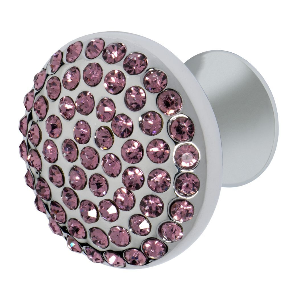 Vivacité Knob, Polished Chrome, Purple