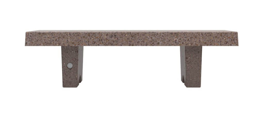 brown terrazzo marble stone bench seating urban design landscape