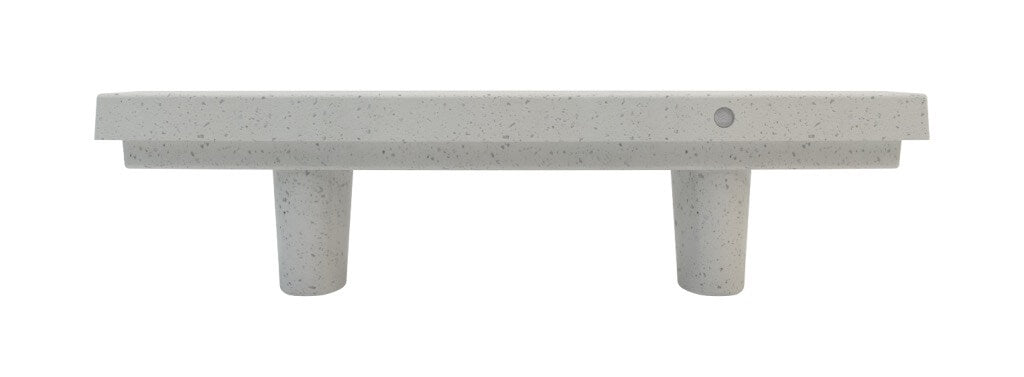 white marble stone terrazzo bench seating indoor outdoor urban design street furniture