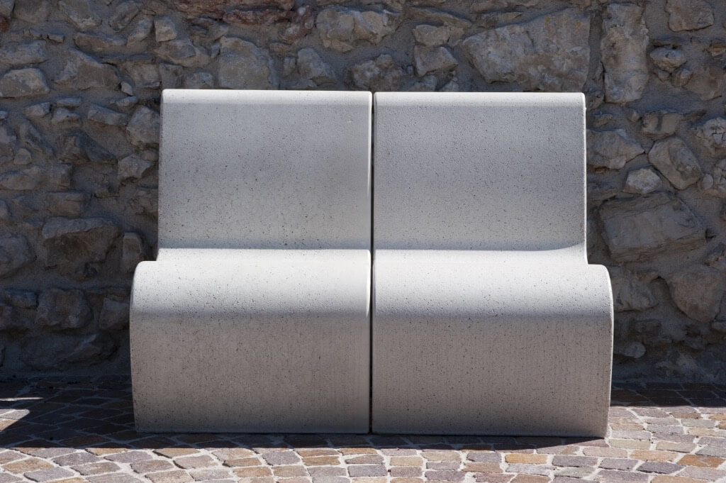 white granite park bench street furniture seating outdoor