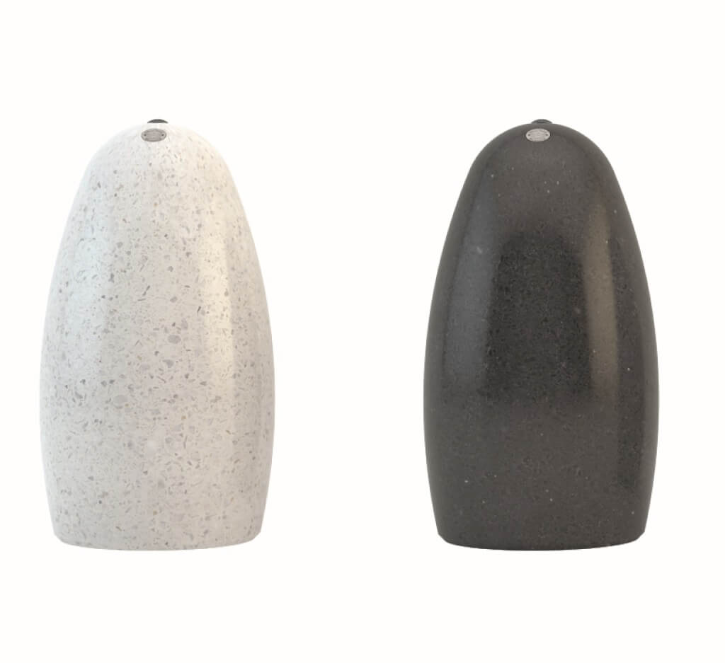 stone bollards italy designer terrazzo street furniture outdoor black white