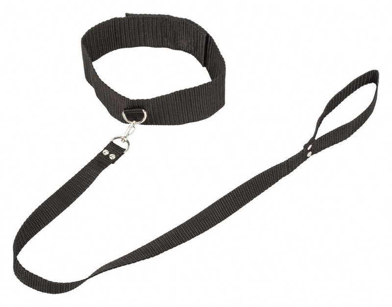LOLA Collar and Leash Black - The Chocolate Men Adult Store