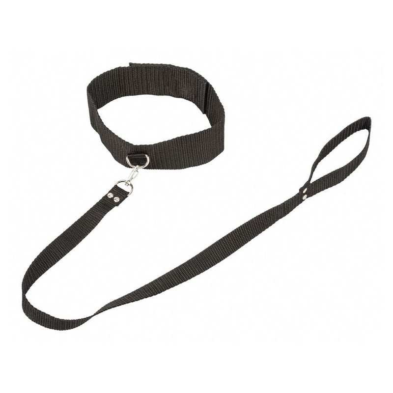 LOLA Bondage Collection Collar and Leash Black - The Chocolate Men Adult Store