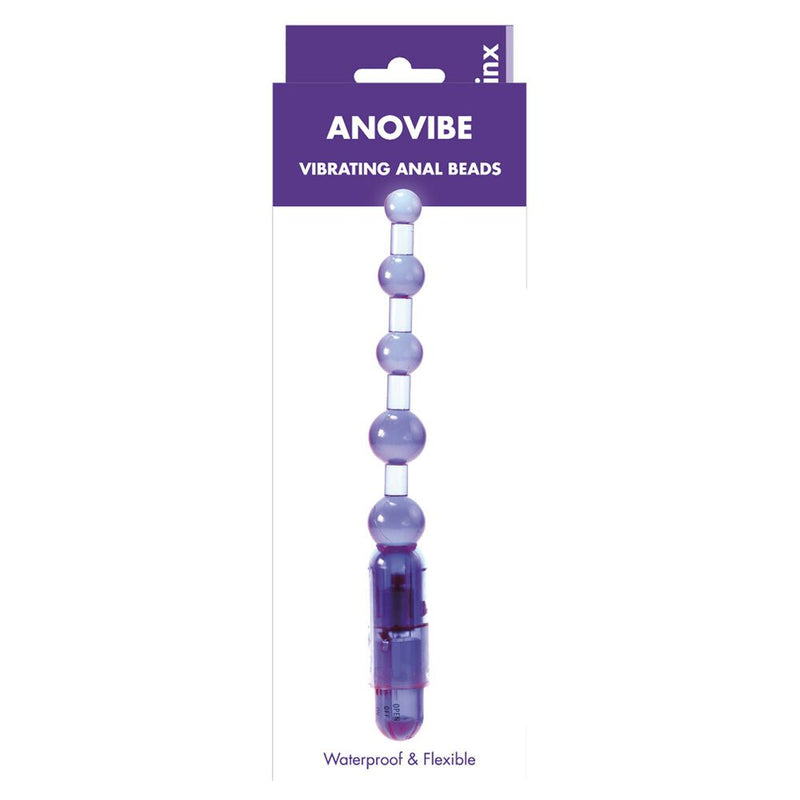 Kinx Anovibe Vibrating Anal Beads Purple - The Chocolate Men Adult Store
