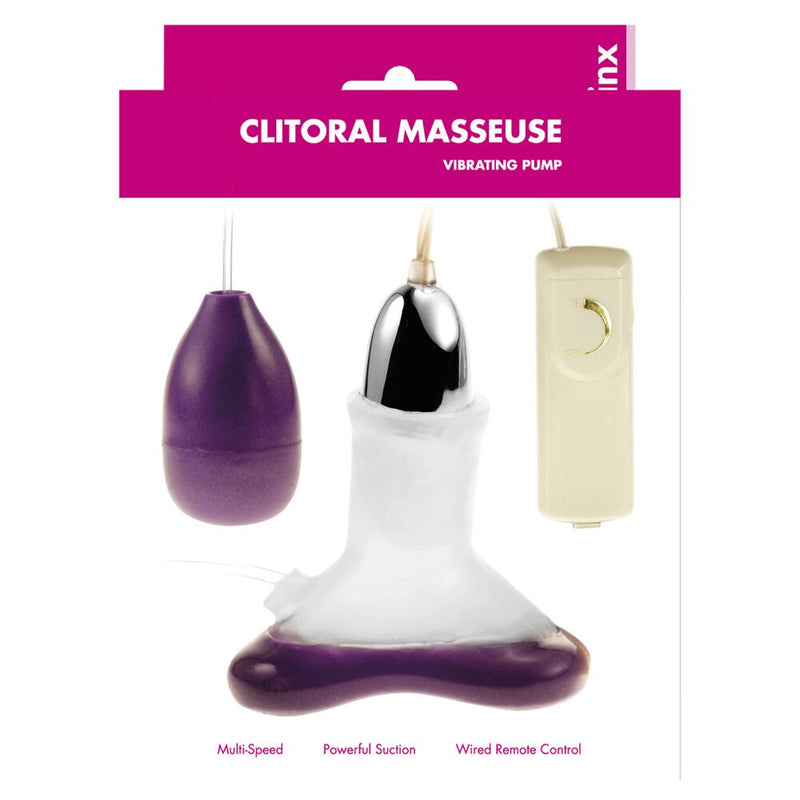 Minx Clitoral Masseuse Vibrating Clit Pump Transparent - The Chocolate Men Adult Store