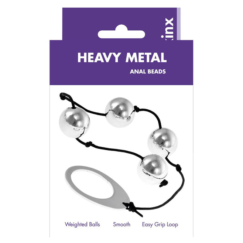 Kinx Heavy Metal Anal Beads Silver - The Chocolate Men Adult Store