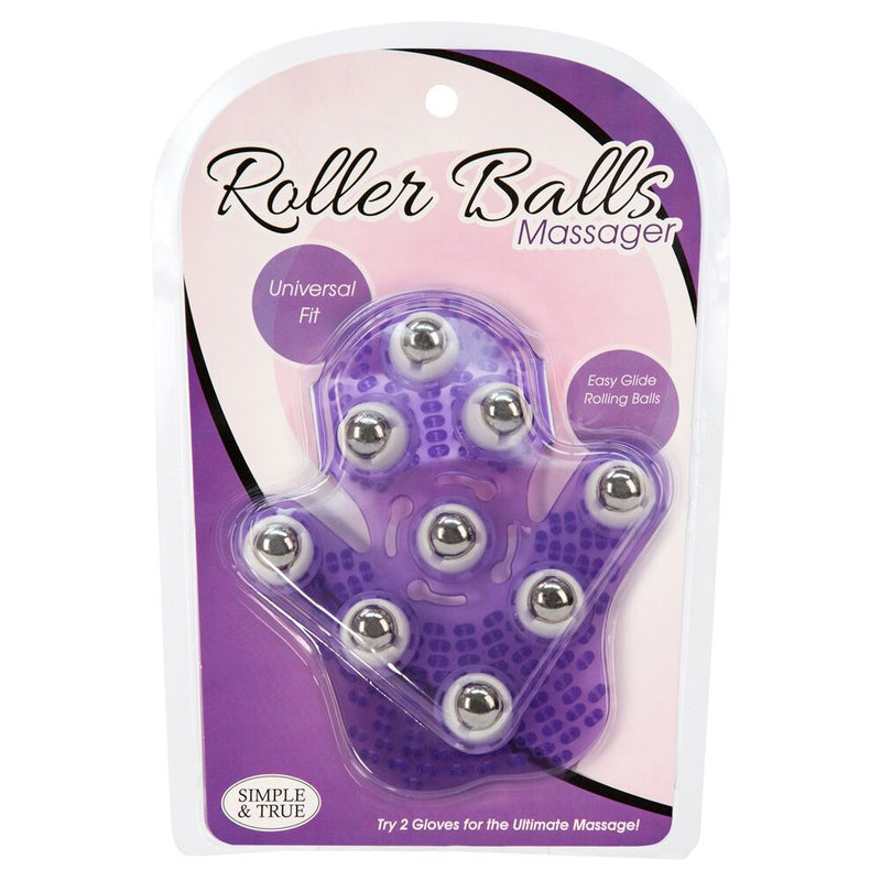 BMS Roller Balls Massager Purple - The Chocolate Men Adult Store