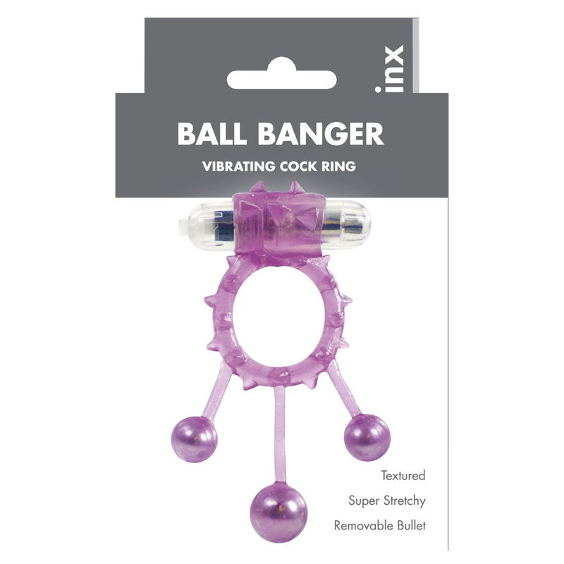 Linx Ball Banger Cock Ring Purple - The Chocolate Men Adult Store