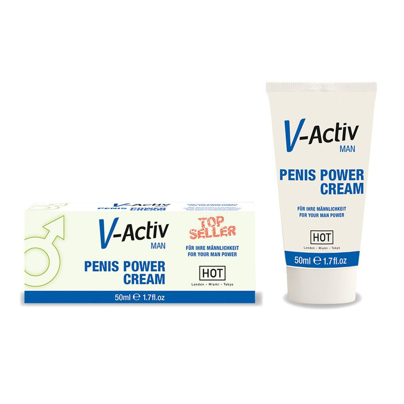 Hot V-Activ Penis Power Cream 50ml - The Chocolate Men Adult Store
