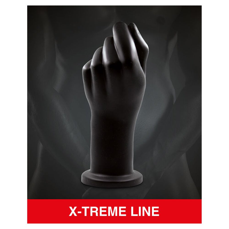 Mr Cock X-Treme Line Fist Black 8.5in - The Chocolate Men Adult Store
