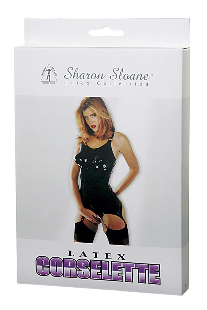 Sharon Sloane Latex Corselette Black M/L - The Chocolate Men Adult Store