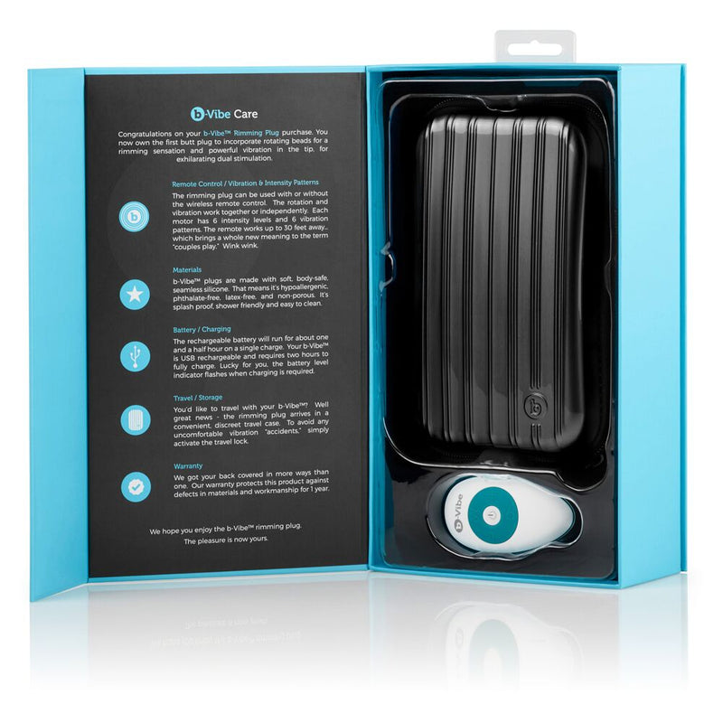 b-Vibe Rimming Plug Teal - The Chocolate Men Adult Store