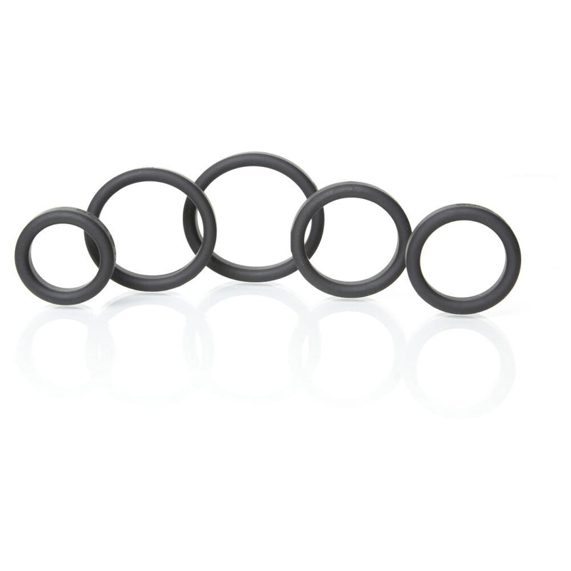 Boneyard Silicone Ring Kit Black 5 Pack - The Chocolate Men Adult Store