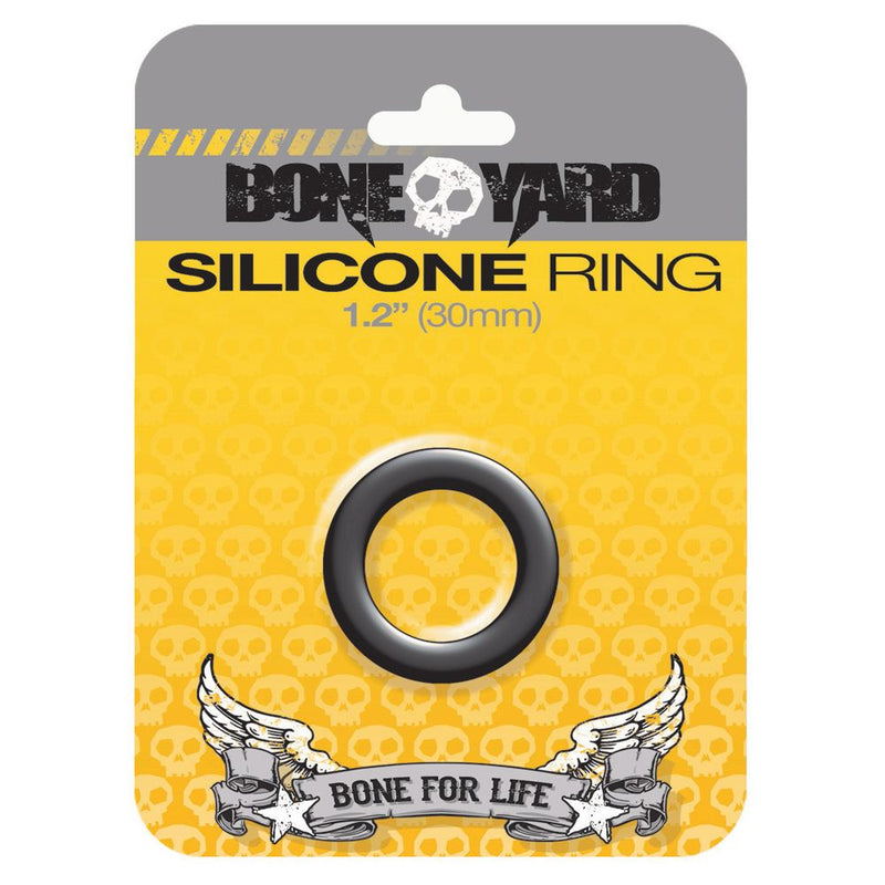 Boneyard Silicone Ring Black 30mm - The Chocolate Men Adult Store