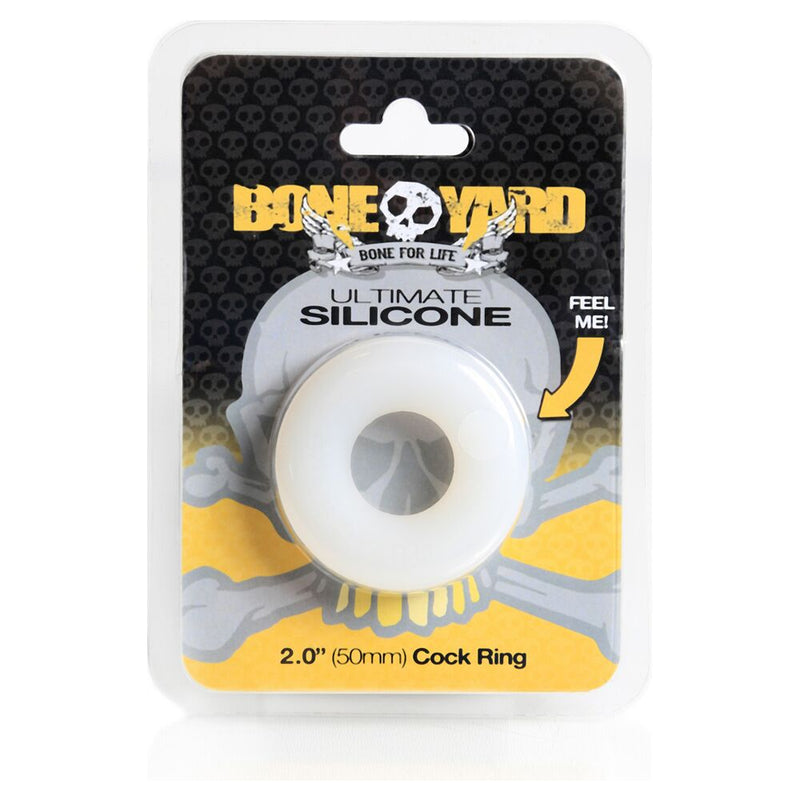 Boneyard Ultimate Silicone Ring Clear - The Chocolate Men Adult Store