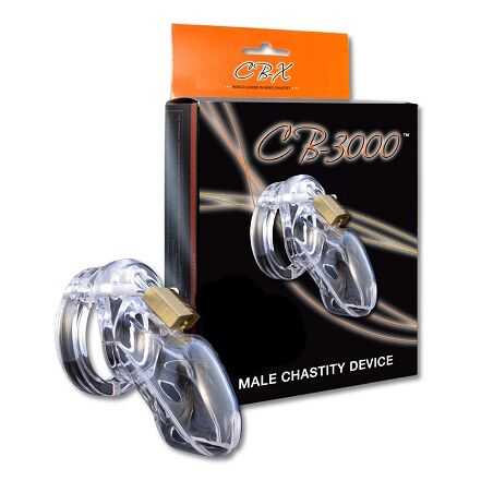 CB-X Male Chastity Device Clear Small - The Chocolate Men Adult Store