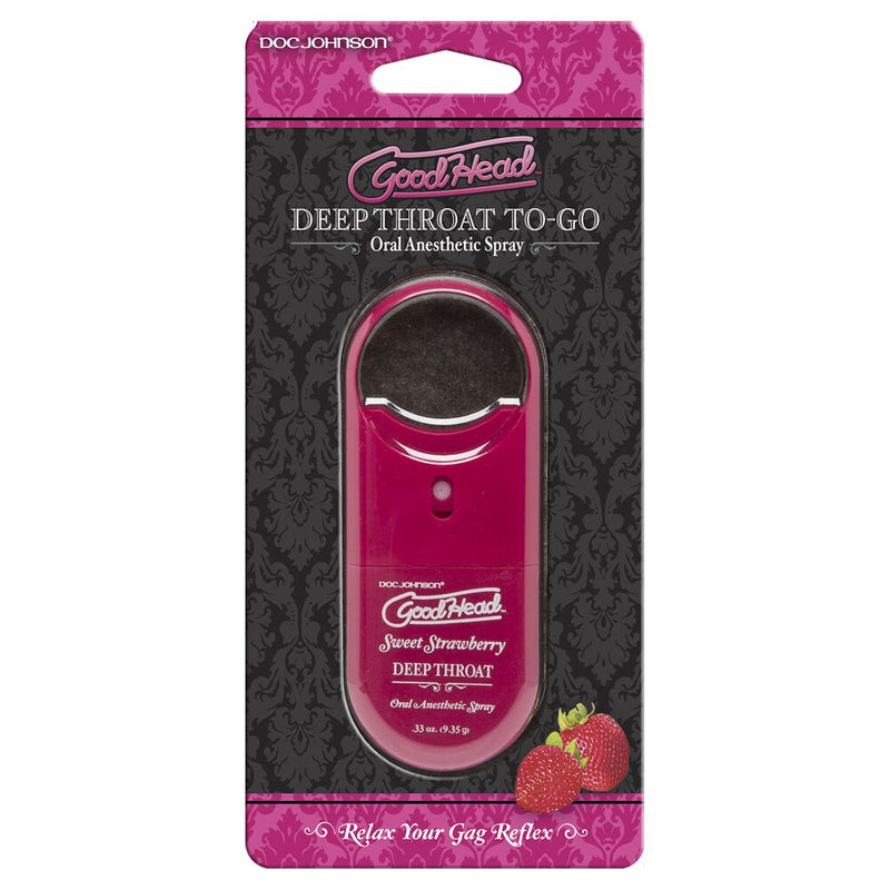 Goodhead Deep Throat Spray To-Go Transparent - The Chocolate Men Adult Store