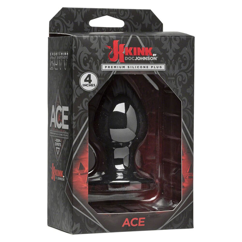 KINK Ace Premium Black 4in - The Chocolate Men Adult Store