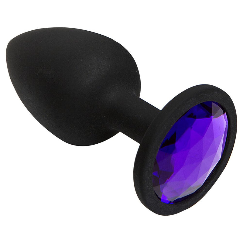 Booty Bling Butt Plug Purple Small - The Chocolate Men Adult Store